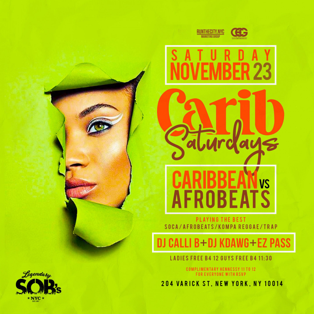 Carib Saturdays At SOB's
