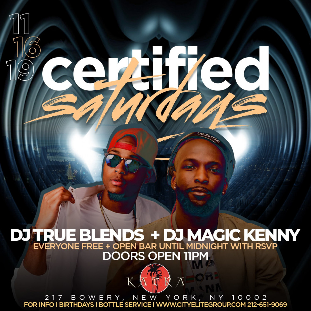Certified Saturdays @ Katra