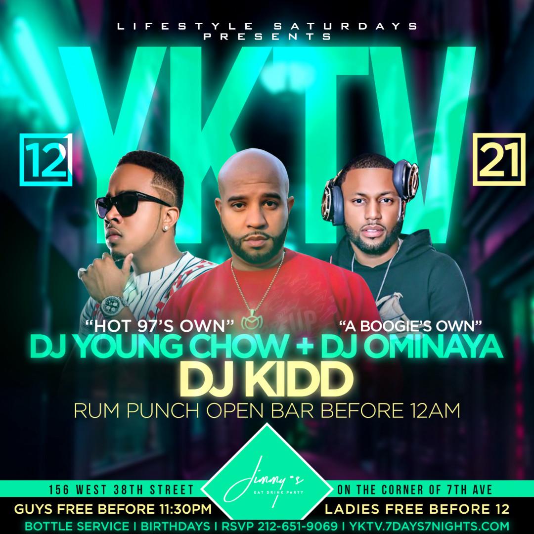 Lifestyle Saturdays Presents: YKTV! w| Rum punch open bar