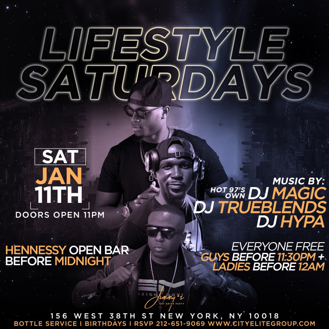 Lifestyle Saturdays @ Jimmy's w| Henny Open Bar