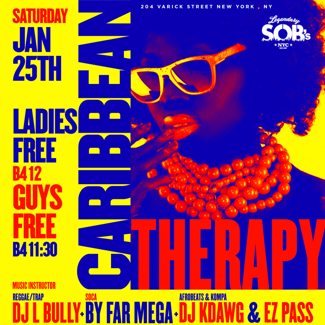 Carib Saturdays Presents: CARIBBEAN THERAPY
