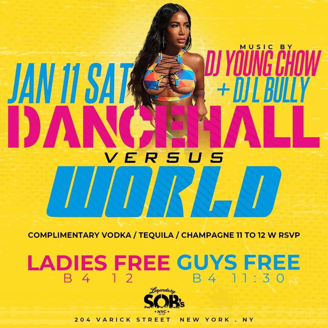 Carib Saturdays Dancehall vs The World w/ Free Drinks