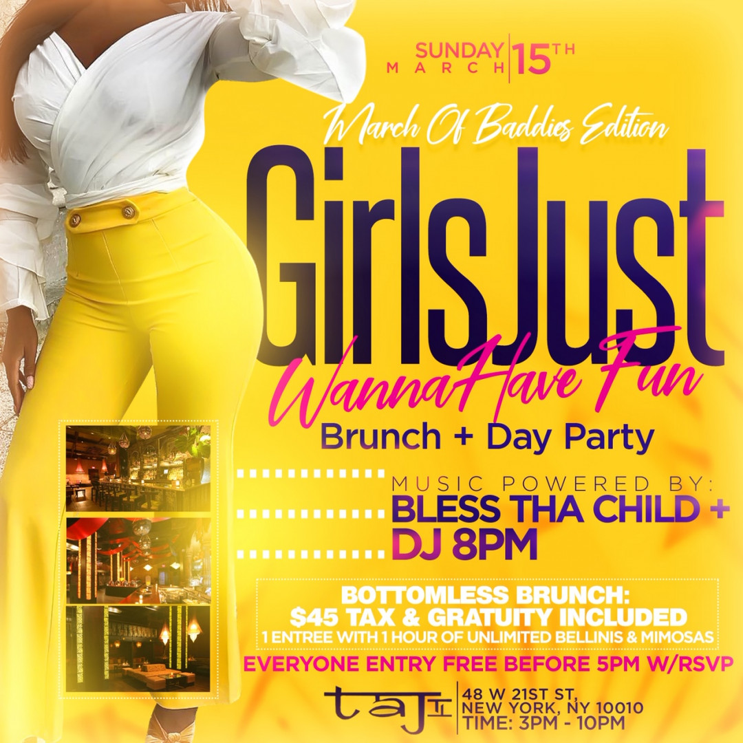 Girls Just Wanna Have Fun Brunch And Day Party