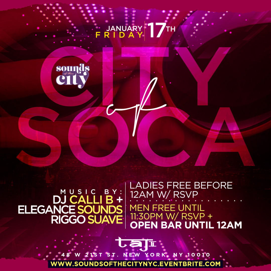 City Of Soca | Open Bar + Free Entry