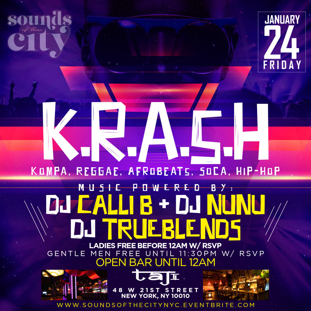 K.R.A.S.H. | Open Bar + Free Entry