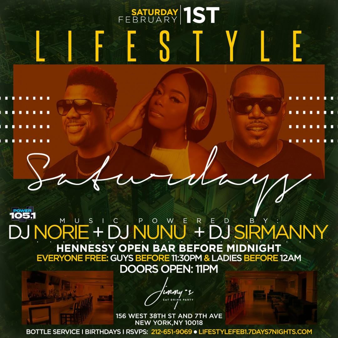 Lifestyle Saturdays @ Jimmy's w| Henny Open Bar