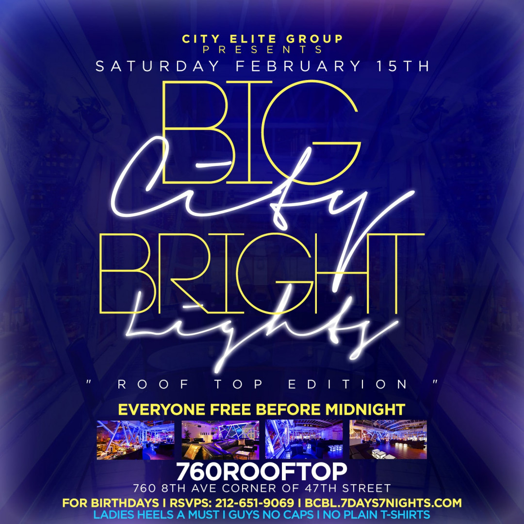 Big City Bright Lights @ 760 Rooftop