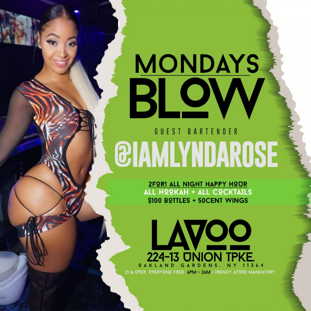 #MondaysBlow at Lavoo Lounge | BOGO Happy Hour Drinks All Night