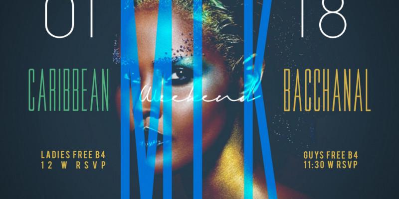 Carib Saturdays Presents: CARIBBEAN BACCHANAL - MLK WEEKEND EDITION w| OPEN BAR!