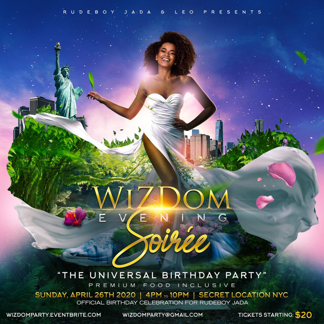 Wizdom Evening Soiree The Universal Birthday Party Open Mimosa Bar & Food Inclusive Event