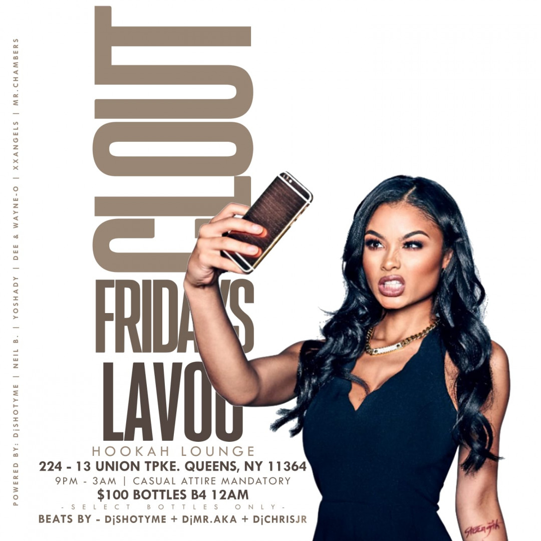 Clout Fridays at Lavoo Lounge | $100 Bottles