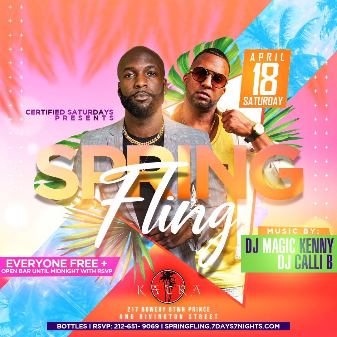 Certified Saturdays Presents: SPRING FLING | EVERYONE FREE + OPEN BAR