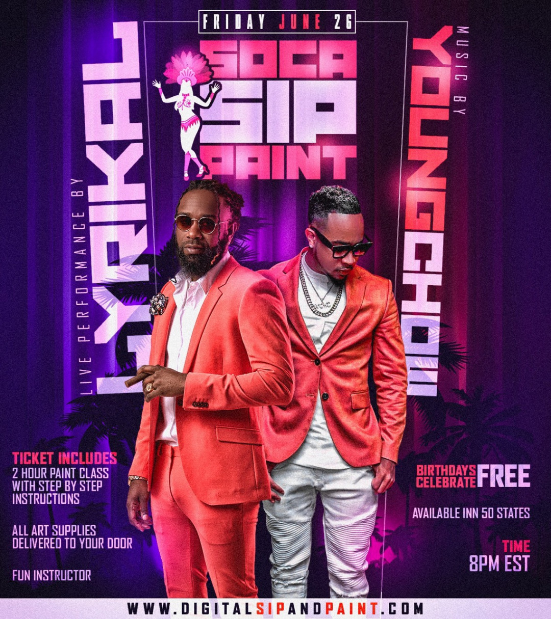 Soca Sip and Paint With Soca Superstar Lyrikal Virtual Event