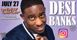 Comedian Desi Banks live at  in Naples, Florida
