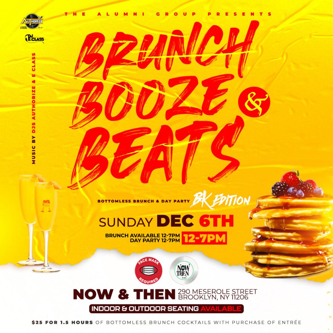 Brunch Booze & Beats Bottomless Brunch & Day Party BK Edition
