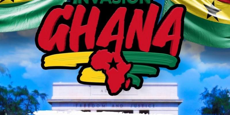 Soca invasion weekend Ghana Africa