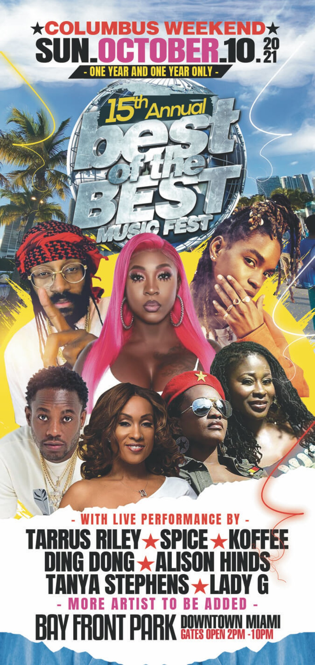 Best of The Best Concert  Miami With Koffee , Spice , tarrus riley