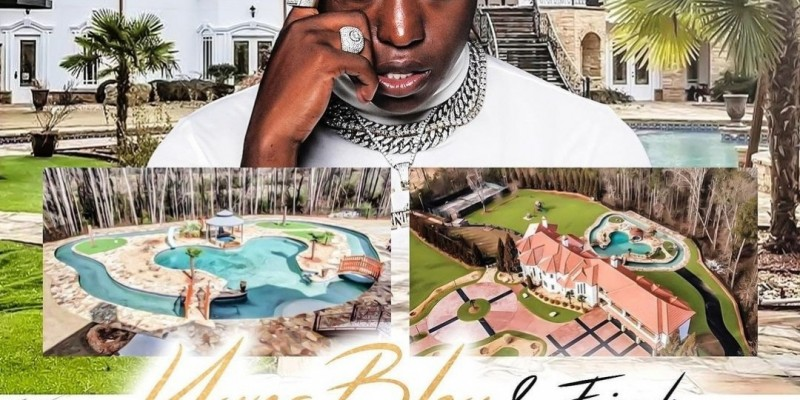 Young Bleu Celebrity mansion birthday party Atlanta