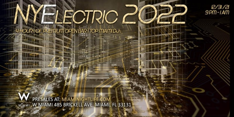 W Hotel Miami New Year's Eve Party 2022