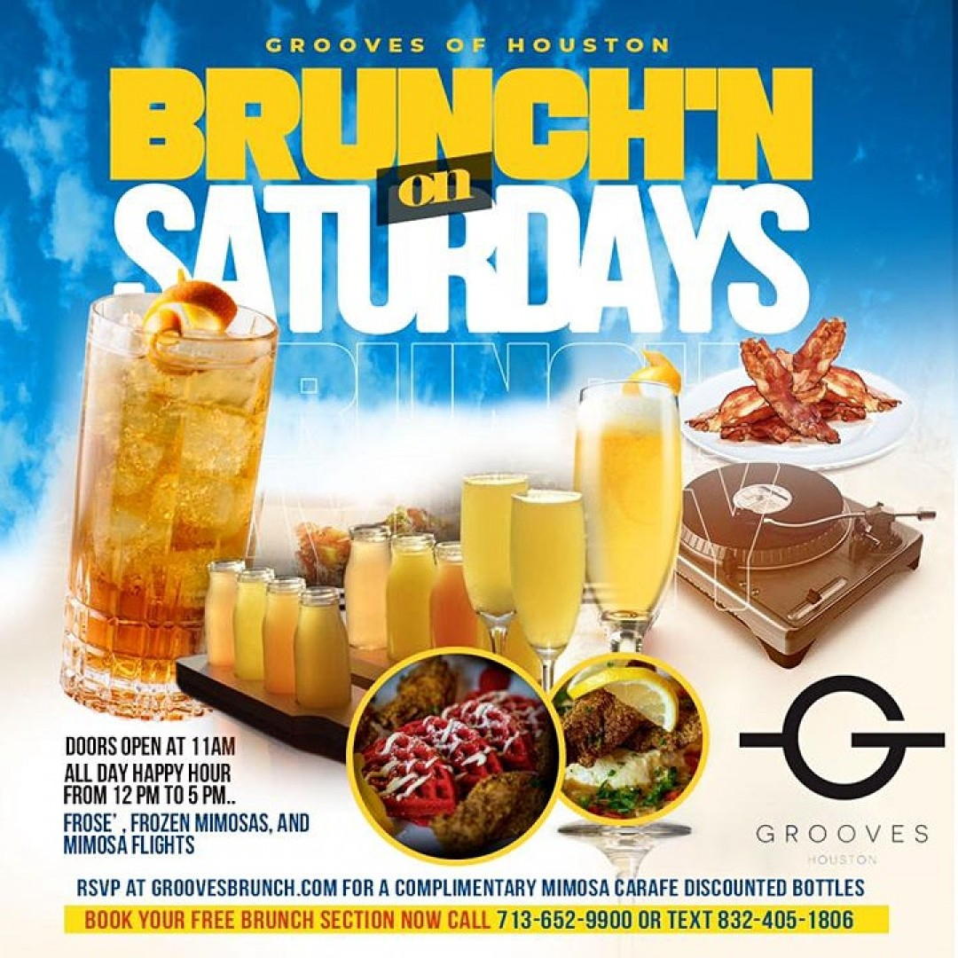 Grooves Saturday Brunch + Day Vibes | Brunch 11am-5pm | Happy Hr 12pm-5pm