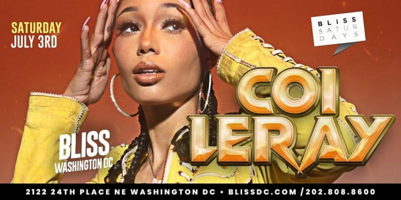 COI LERAY LIVE IN CONCERT AT BLISS NIGHTCLUB 4th of july weekend