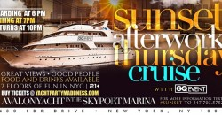 SUNSET AFTERWORK YACHT PARTY Memorial day weekend NYC