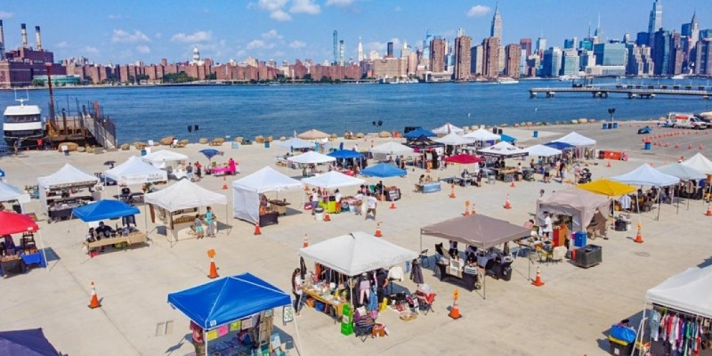 Every Weekend AT Greenpoint Terminal Market Brooklyn NYC Labor day weekend
