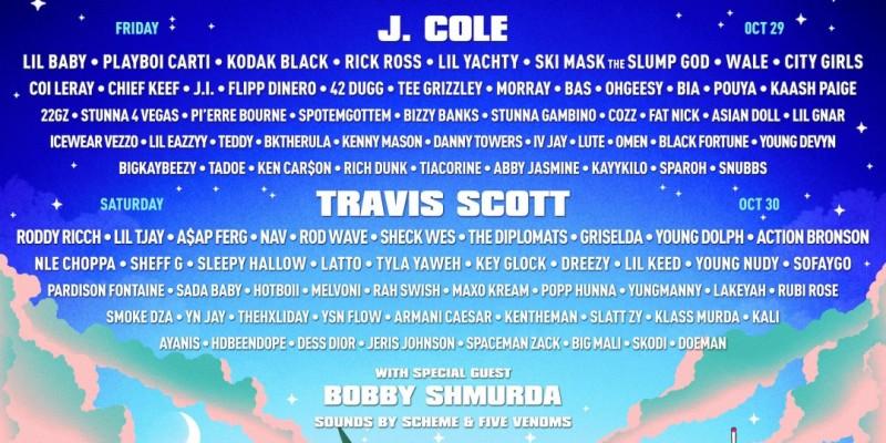 2021 Rolling Loud Citi Field With 50 cent   J Cole   Travis Scott