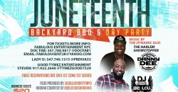 1st Annual JUNETEENTH Backyard BBQ & Day Party Saturday June 19th 4pm-11pm