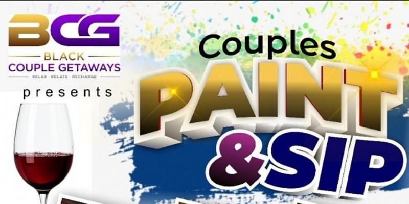 BLACK COUPLE GETAWAYS PAINT & SIP PHILADELPHIA ,Philadelphia
