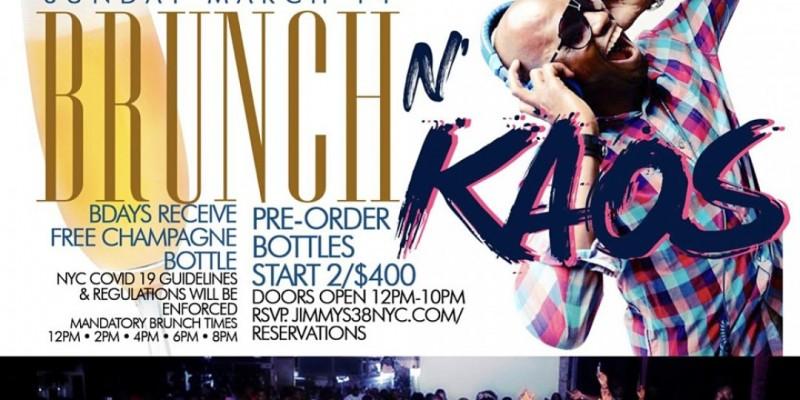 Brunch N Kaos,  Sunday 2hr Open Bar Brunch, Bdays FREE Champagne Bottle ,New York