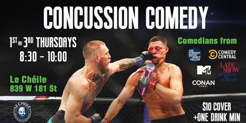 Concussion Comedy | Stand-up Comedy in Washington Heights ,New York