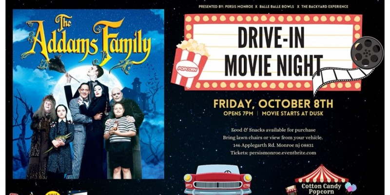 Drive In Movie Night ft. The Addams Family ,Monroe