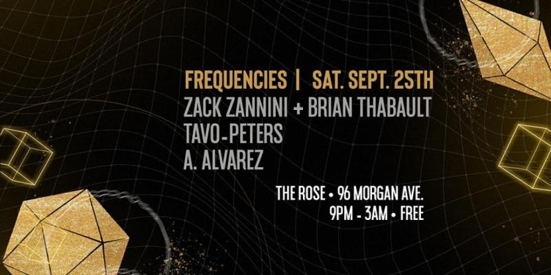 Frequencies - Zack Zannini + Brian Thabault, Tavo-Peters, A. Alvarez ,Brooklyn