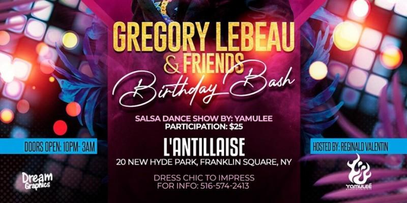 GREGORY LEBEAU & FRIENDS' BBASH TICKET SALES @ L'ANTILLAISE (OCT. 16, 2021) ,Franklin Square