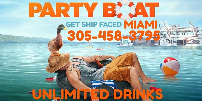 Miami Party Boat - Twerk contest &  Unlimited drinks included ,Miami