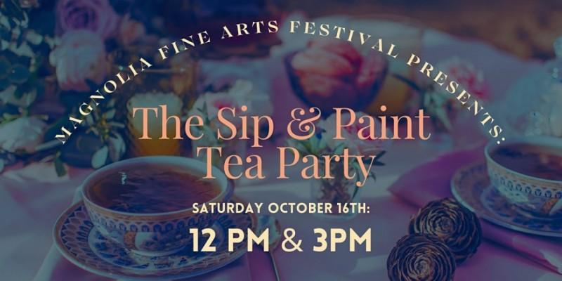 Sip & Paint Tea Party at the Magnolia Fine Arts Festival ,Peachtree City