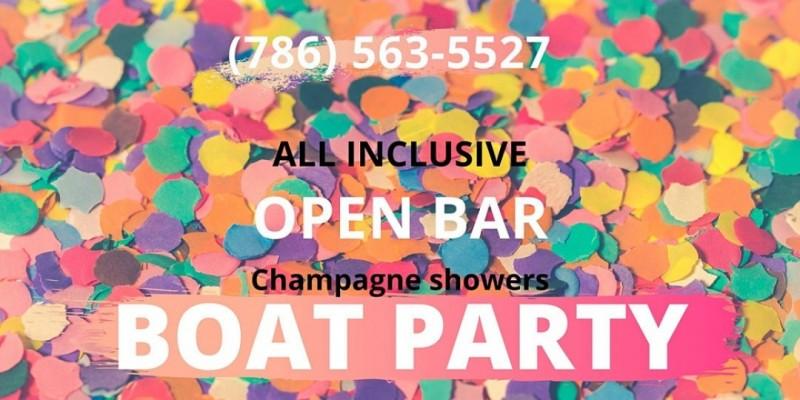 ULTIMATE #Miami! All-INCLUSIVE! BOAT PARTY! ,Miami
