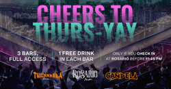 Cheers to Thurs-YAY   Rosario Miami , Candela Bar , Tu Candela Bar Brickell ,Miami