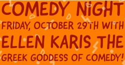 Comedy night with NYC comedienne Ellen Karis ,Cherry Hill