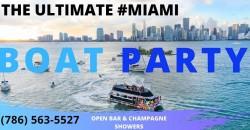 EPIC MIAMI PARTY BOAT !! ,Miami