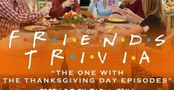 """Friends Trivia """"The One with the Thanksgiving Episodes"""" ,Hoboken"""