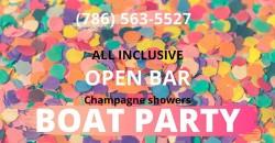 #Miami! All-INCLUSIVE! BOAT PARTY! ,Miami