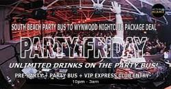 Miami Beach Party Bus To Miami Wynwood Nightclub - Friday Nightlife ,Miami Beach
