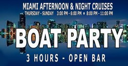 MIAMI NIGHTCLUB MIDNIGHT MEGA BOAT PARTY - 3 Hour Open Bar ,MIAMI