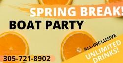 Miami Party Boat- Spring Break ,Miami