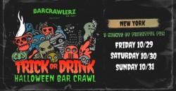 Trick or Drink: NYC Halloween Bar Crawl (3 Days)