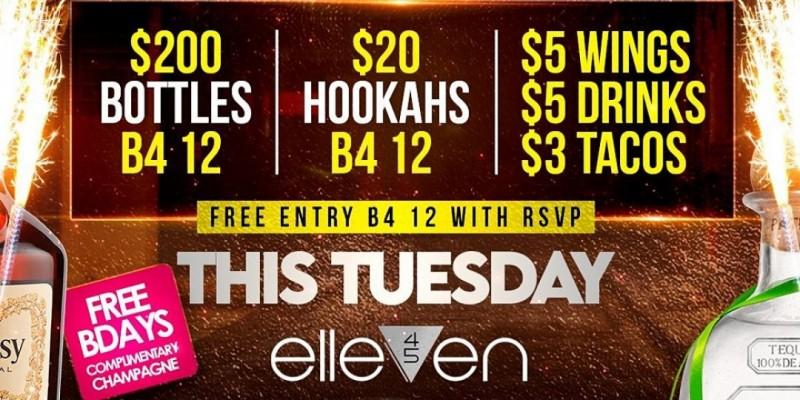#1 TUESDAY PARTY IN BUCKHEAD @ ELLEVEN 45 ATL ,Atlanta
