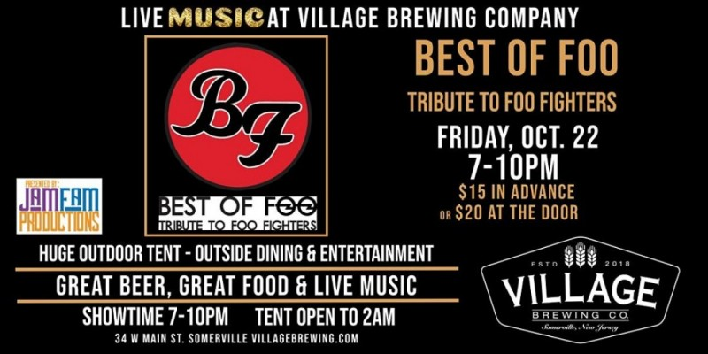 Best of Foo: Tribute to the Foo Fighters @ Village Brewing Company! ,Somerville