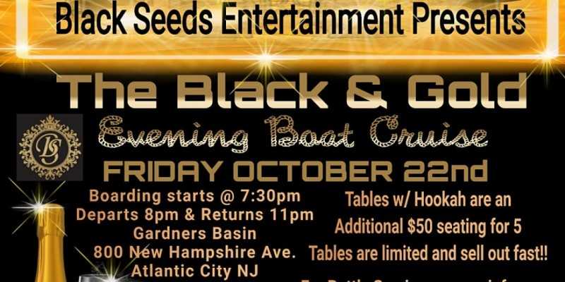 Black & Gold Evening Boat Cruise ,Atlantic City